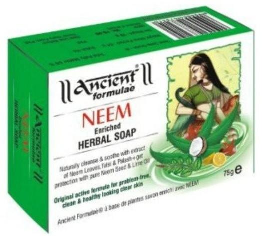 Hesh Herbal Ancient Neem Herbal Soap Mydło antybakteryjne do twarzy i ciała 75g