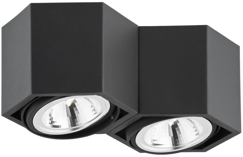 Argon Plafon 2x6W LED Czarny ESPRESSO 736