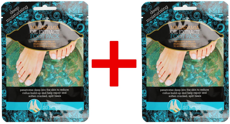 Xpel 1+1 Xpel Macadamia Oil Extract Deep Moisturising Foot Pack Nawilżający Zabieg Na Stopy 2szt.