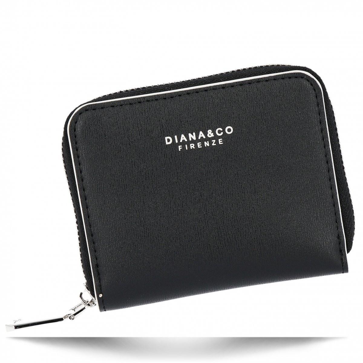 Diana&Co Poręczne Uniwersalne Portfele Damskie firmy Diana&Co Czarny (kolory) DFX1895-9czar