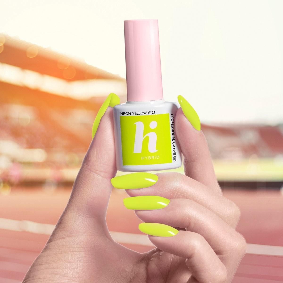 Hi Hybrid Lakier hybrydowy 5ml 121 Neon Yellow Hi Hybrid