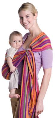 Amazonas Baby Chusta do noszenia dziecka Ring Sling lollipop 180cm AZ-5060230