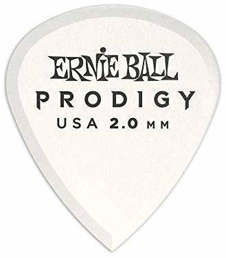 Ernie Ball 2,0 mm białe mini kostki gwiazdkowe 6-pak P09203