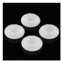Nakładka nasadka silikonowa na analog grzybek pada PlayStation 2/3/4 PS2 PS3 PS4, Xbox 360 / One - zestaw 4 szt (biała)