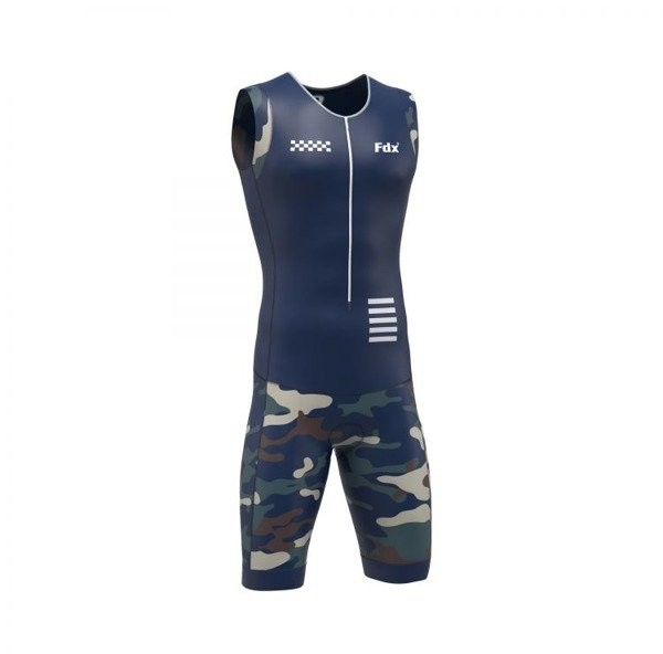 FDX FDX strój triathlonowy PRO Racing Triathlon Skinsuit niebieski moro