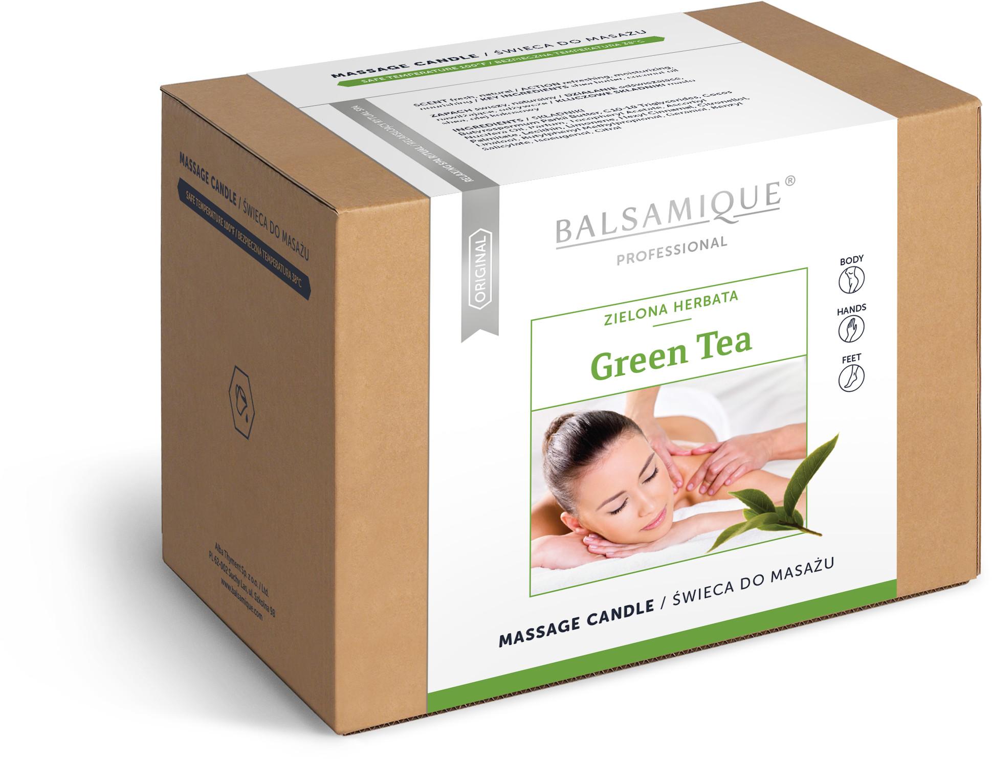 Alba Thyment Świeca do masażu ciała - Zielona herbata - Green Tea