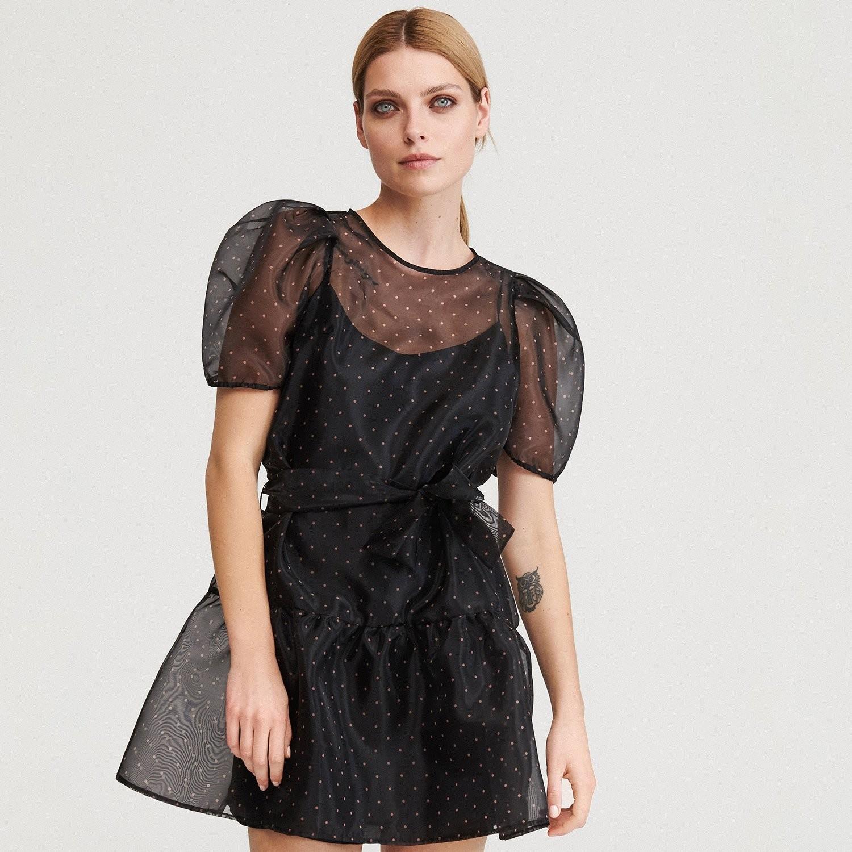 Reserved Sukienka z organzy - Wielobarwny