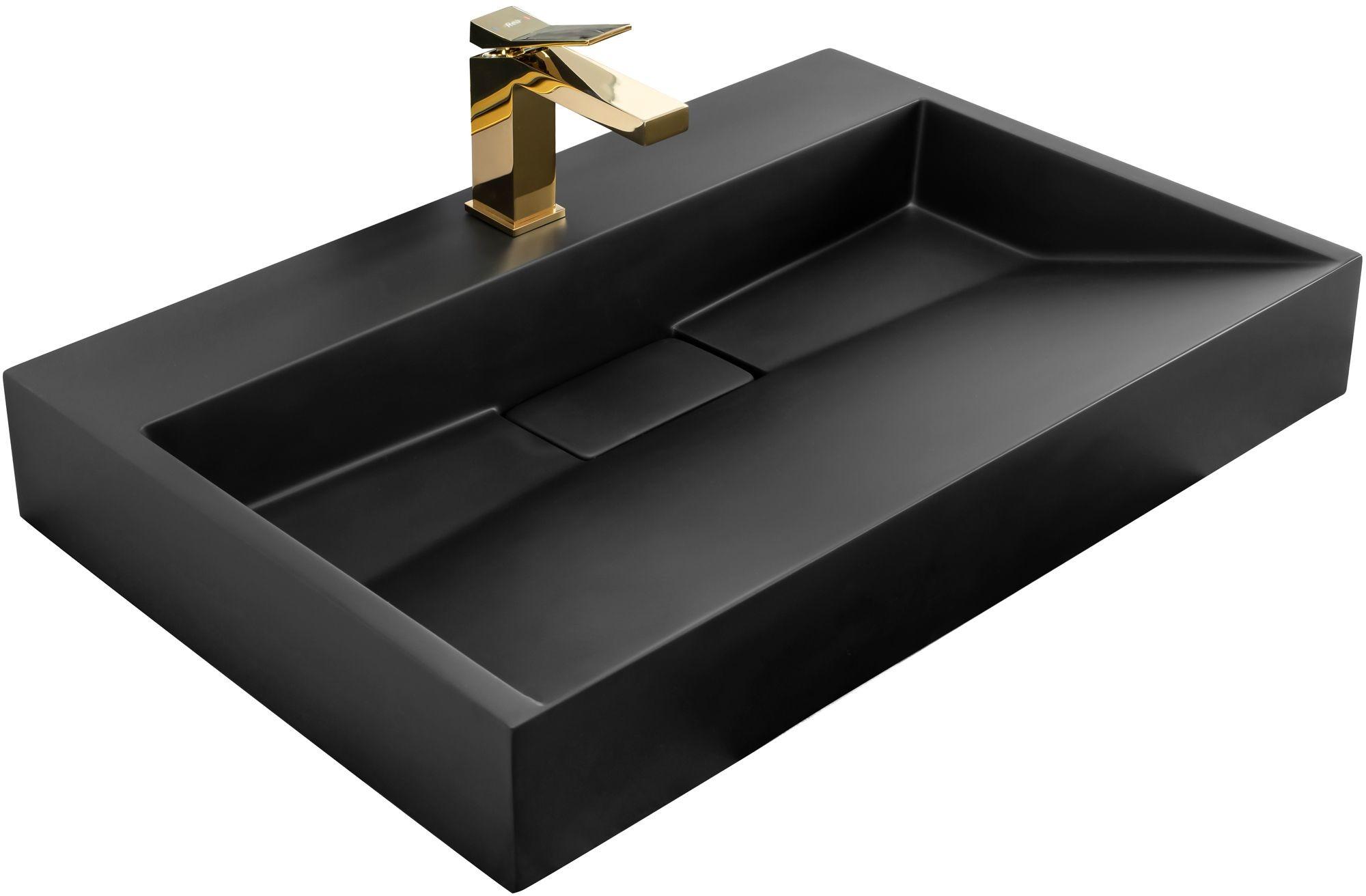 Rea UMYWALKA KONGLOMERATOWA NABLATOWA GOYA BLACK MAT 70CM U8802