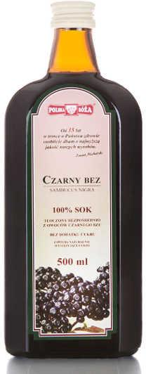 POLSKA RÓŻA 100% sok z czarnego bzu 500 ml