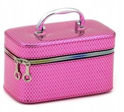 Kuferek walizka z lusterkiem S różowy