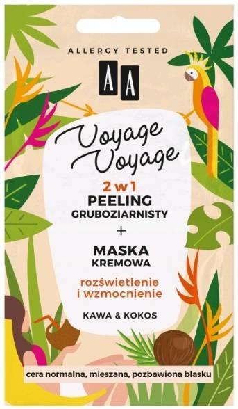 Oceanic Voyage Voyage 2w1 peeling gruboziarnisty +maska kremowa Kawa&Kokos 2x 5ml 58465-UNIW