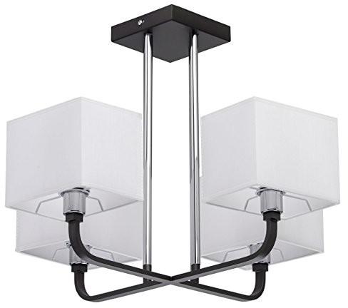 MW-Light Nowoczesna lampa sufitowa 4-żarówkowy chromiertes metalowy białe materiału bez pogorszenia jakości akrylu ciepłe światło pokoju, jadalni, z wył. 4* 40W E142700K 101011904