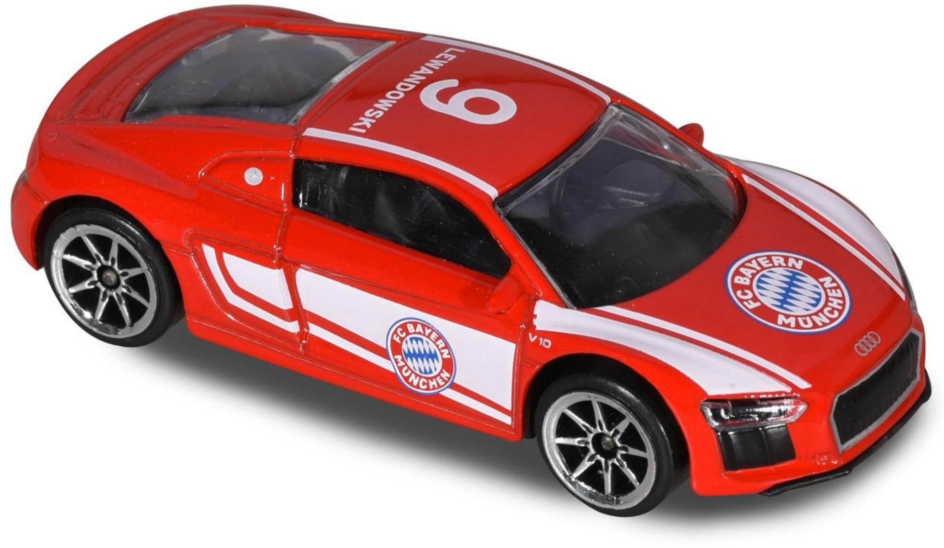 Majorette Samochodzik Auto FC Bayern Monachium Robert Lewandowski Audi R8 Coupé 212053059SPL