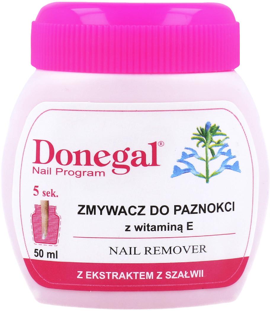 Donegal Nail Program Zmywacz Do Paznokci Z Gąbeczką Z Ekstraktem Z Szałwii 50ml