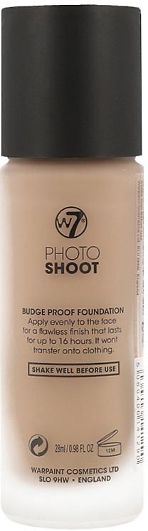 W7 Photo Shoot 16 Hour Budge Proof Foundation Długotrwały Podkład Do Twarzy Sand Beige