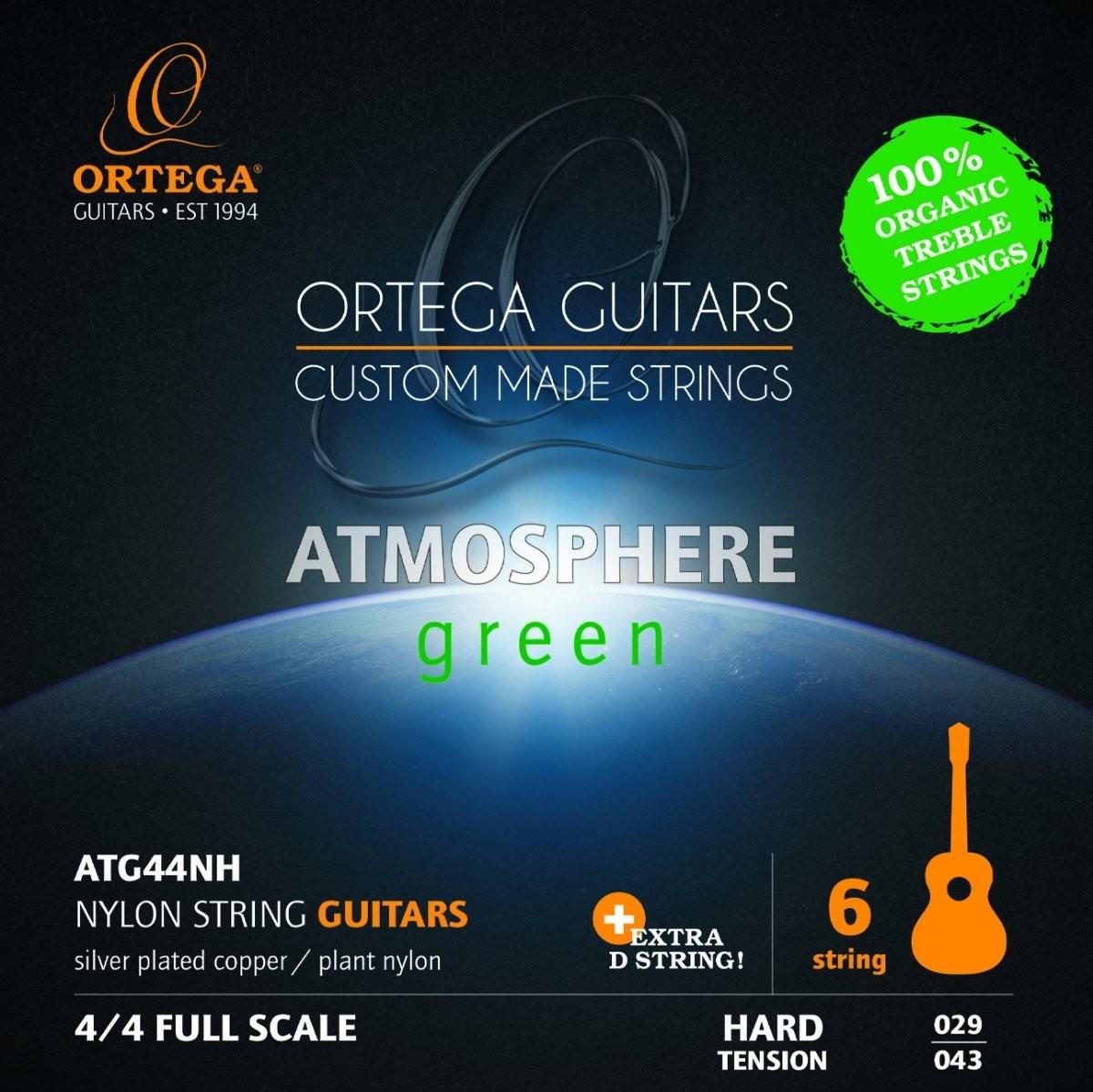 Ortega Ortega ATG44NH Organic Hard Tension struny do gitary klasycznej