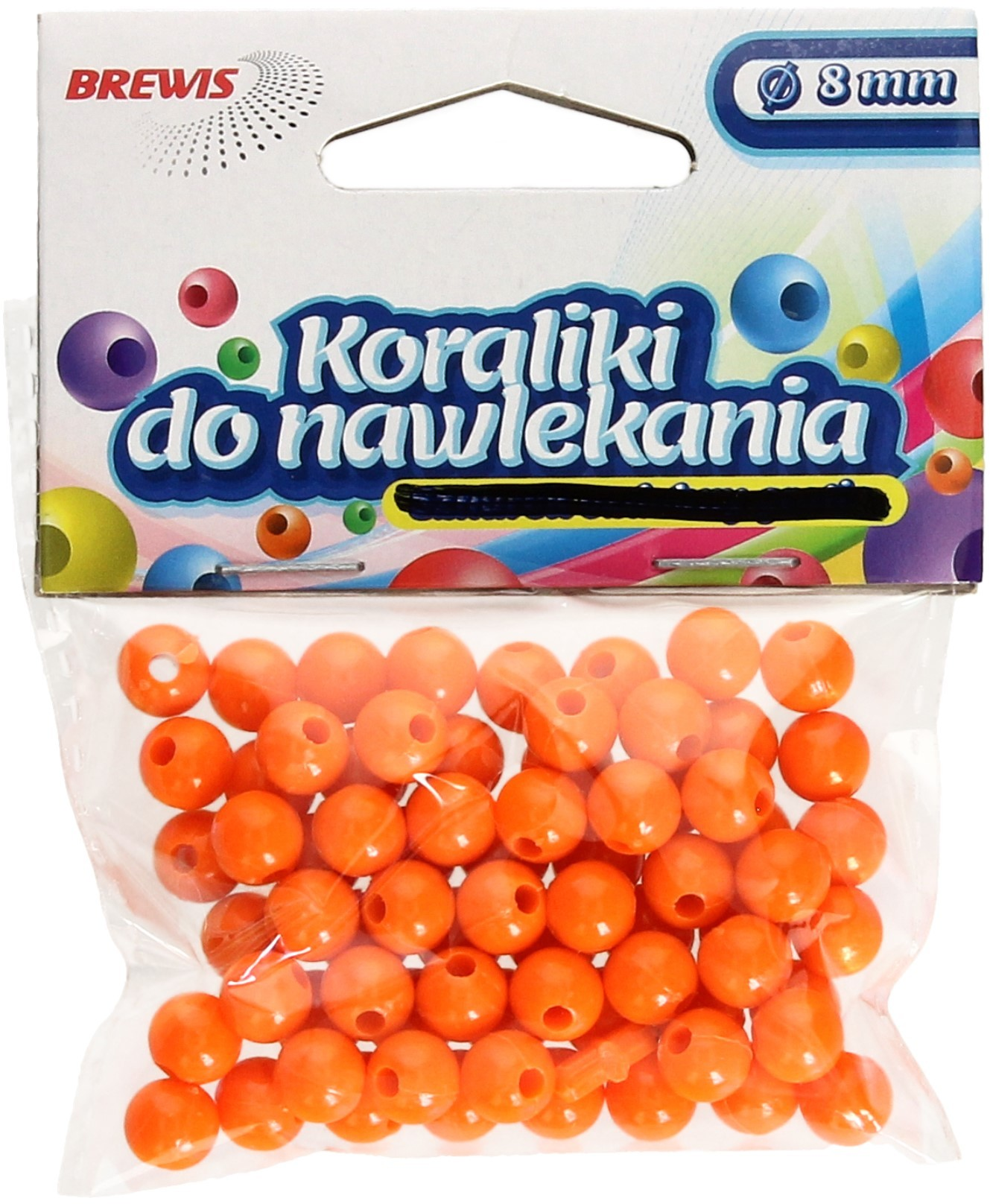 Brewis Koraliki ozdobne pomarańczowe K8 8mm VB8864