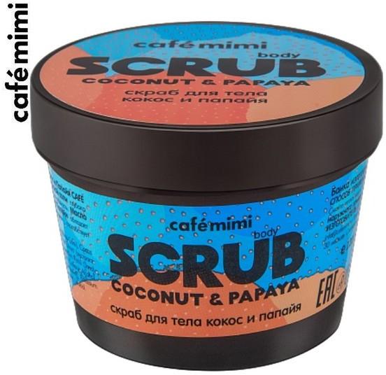 Le Cafe de Beaute Kafe Krasoty Kafe Krasoty CAFE MIMI Scrub do ciała Kokos i Papaja 120g