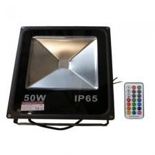 PREMIUM Naświetlacz LED RGB 50W + pilot radiowy LUX06162