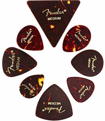 Fender Celluloid Medley, tortoise Picks, M (8 sztuk), 0980200300 0980200300