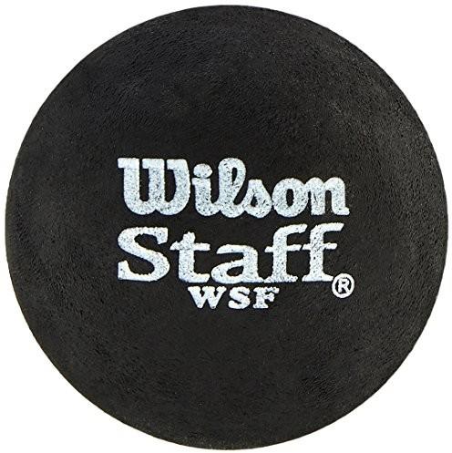 Wilson Piłka do squasha a, 2 sztuki, 2 sztuki, powolne, początkujące, żółta kropka, jednorazowa żółta kropka, WRT617800, czarna (żółta kropka) WRT617800