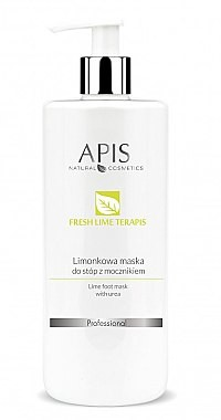 Apis Professional Limonkowa maska do stóp z mocznikiem - Professional Fresh Lime TerApis Lime Foot Mask With Urea