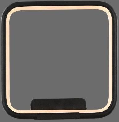 mcodo MCODO ::  Designerski kinkiet led Pista Illuminata SQ 20cm czarny 13W z barwą ciepłą 3000K LC-011-AC14-BDL03-13W-bl 3000K