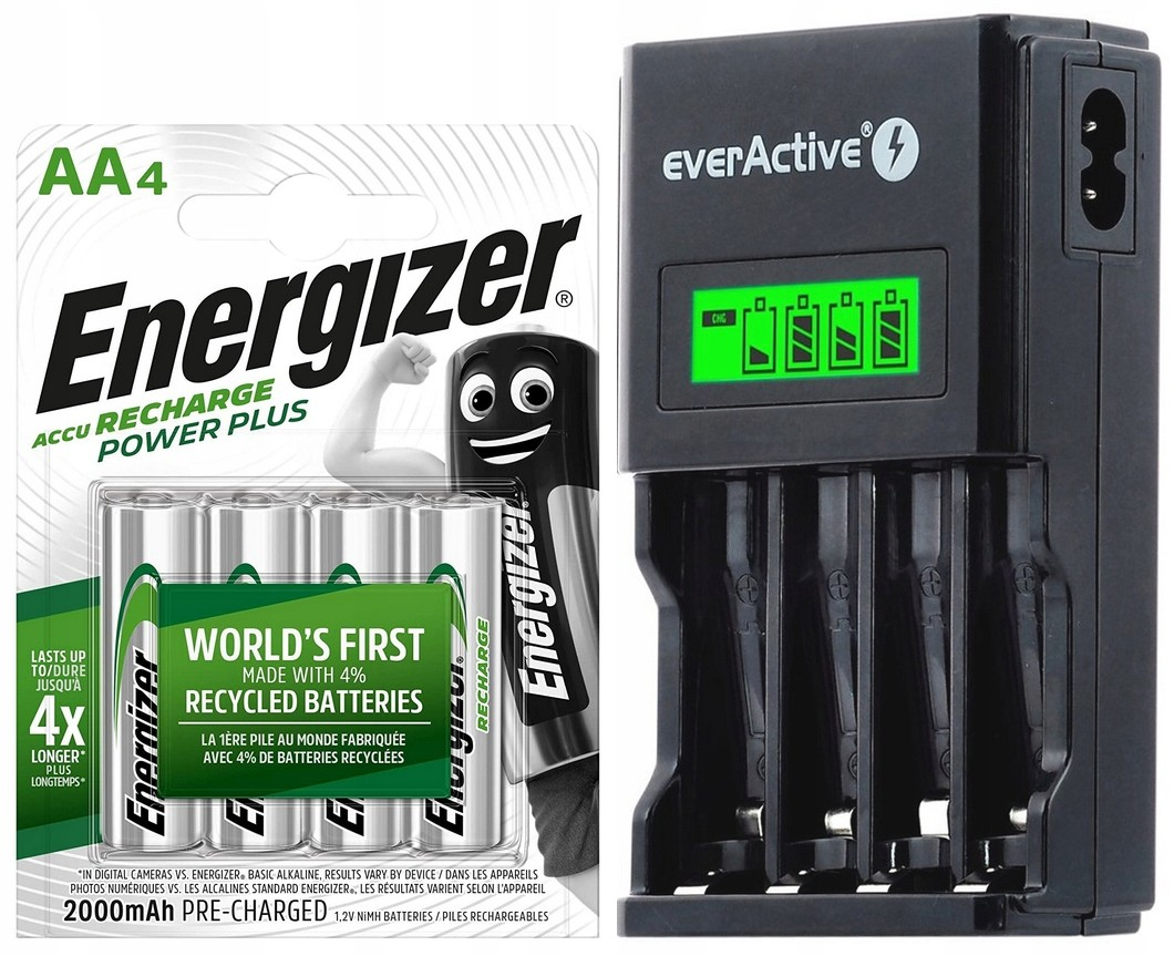 Ładowarka Baterii Aa Aaa + 4X Akumulatorki R3 Aaa