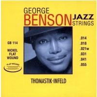 Thomastik 676655) Struny do gitary elektrycznej George Benson Jazz Guitar 039fw
