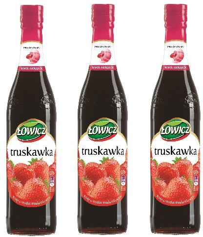 Łowicz Syrop owocowy - Truskawka 400ml