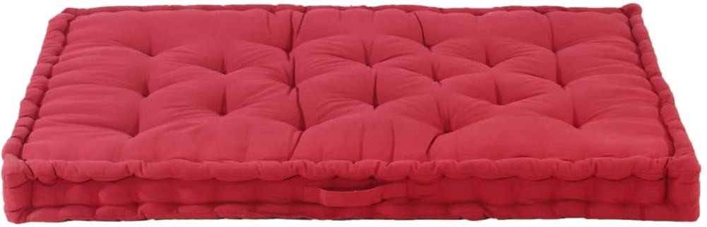 vidaXL Poduszka na podłogę lub palety, bawełna, 120x80x10 cm, burgund vidaXL