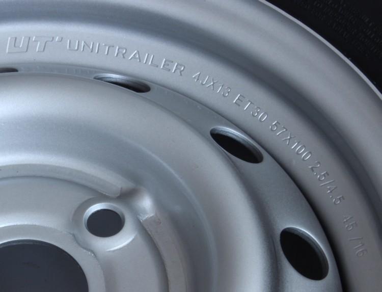 UNITRAILER Koło 155/70 R13 kompletne do przyczep Unitrailer 161-uniw