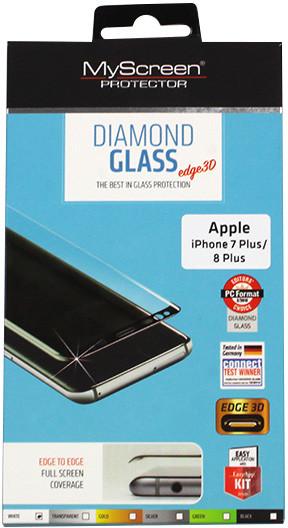 Etuo.pl MyScreen Protector - Apple iPhone 8 Plus - szkło hartowane MyScreen Protector Diamond Glass Edge 3D - białe FOAP610FSGLWHT000