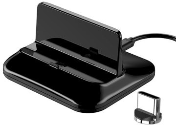 Samsung Magnetic Charge Base Type C Micro Charging Station Holder for iPhone Huawei Xiaomi Smart Phones