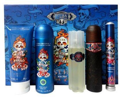 Cuba Wild Heart Must Have Woda toaletowa 100ml + Woda toaletowa 35ml + Dezodorant 200ml + Żel pod prysznic 200ml + Woda po goleniu 100ml