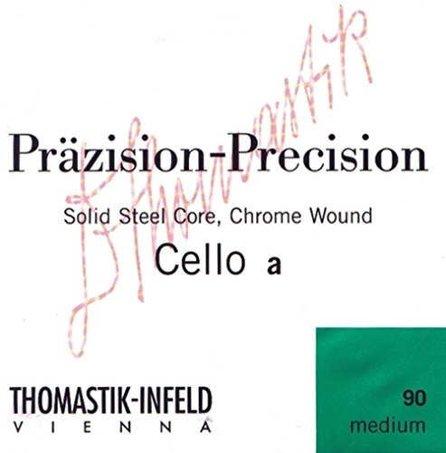 Thomastik Pojedynczy sznurek do wiolonczela 4/4 Precision - stały rdzeń ze stali w kształcie litery C, srebrny nawinięty, lekki 641621