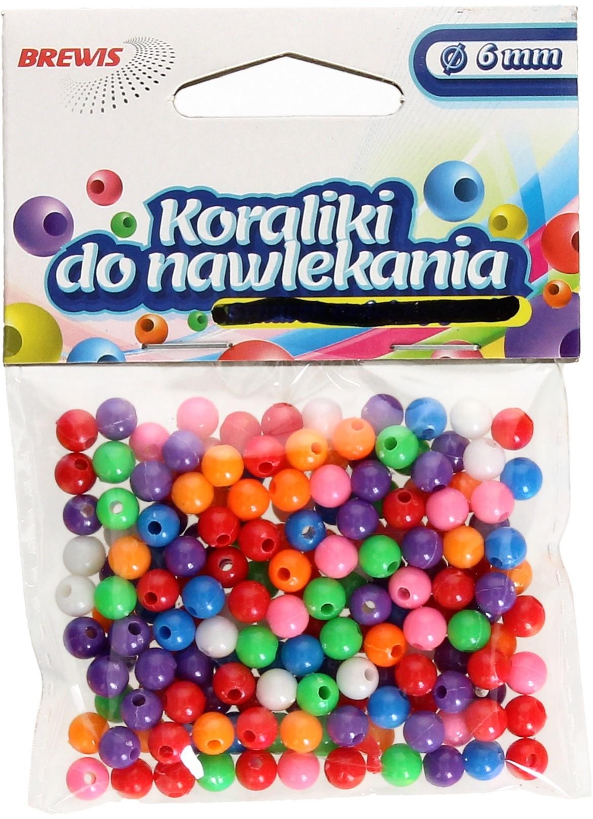 Brewis Koraliki ozdobne mix K6 6mm VB8852