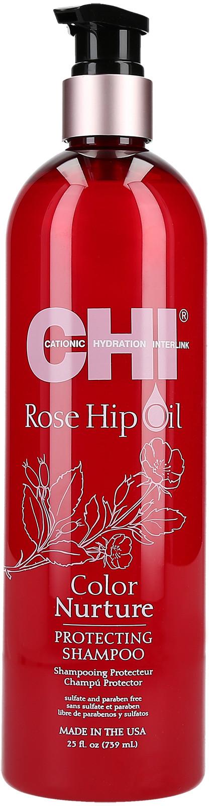 Farouk CHI ROSE HIP OIL Szampon ochronny do włosów farbowanych 700ml 0000048773