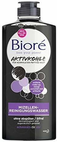 BIORÉ Mleczko oczyszczające z aktywnym węglem do skóry normalnej, tłustej, głęboko oczyszcza, 300 ml