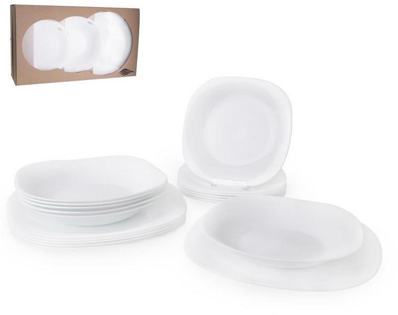Serwis obiadowy zestaw talerzy komplet 18 el. 112341