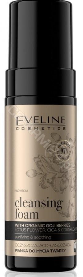 Eveline Cosmetics Organic Gold Cleansing Foam oczyszczająco-łagodząca pianka do mycia twarzy 150ml