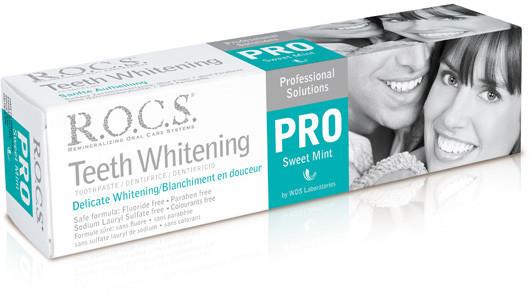 R.O.C.S. ROCS pasta do zębów PRO Delicate Whitening Fresh Mint - wybielająca bez fluoru 100ml