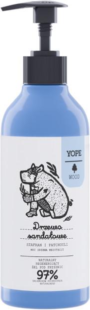 YOPE WOOD Naturalny żel pod prysznic Drzewo sandałowe szafran i patchouli 400ml 58462-uniw