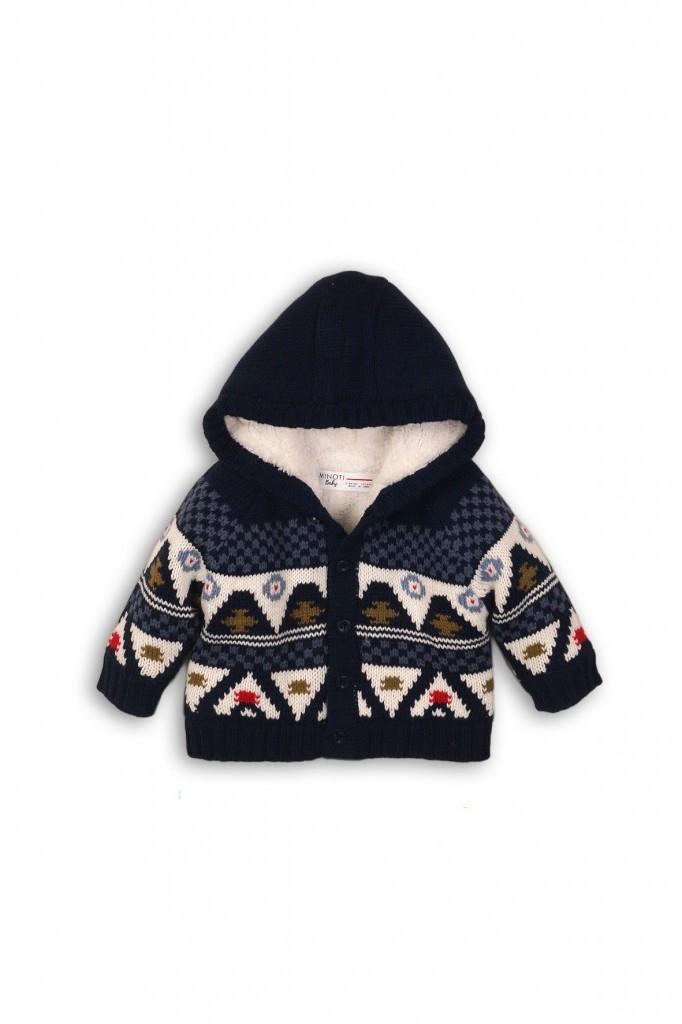 Minoti Sweter niemowlęcy granatowy 5C39A3 5C39A3 SAM 56/62