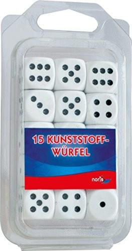 noris Noris Spiele 606154361, 15 białych koralików do oczu z tworzywa sztucznego