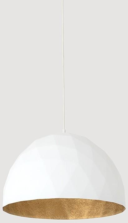 Customform Lampa wisząca LEONARD L - złoto-biały LP001LEN-50-1901