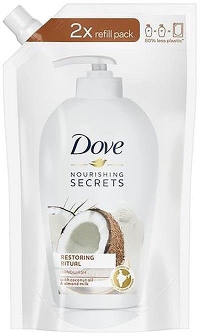 Dove Nourishing Secrets Restoring Ritual Coconut Oil & Turmeric zapas mydła do rąk w płynie 500ml