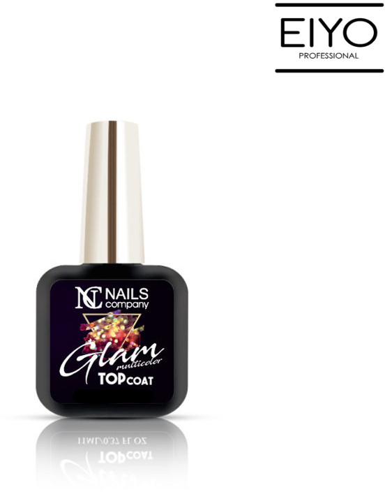 NAILS COMPANY GLAM TOP COAT MULTICOLOR Nails Company - 6 ml