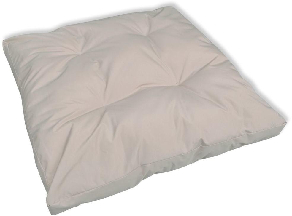 vidaXL Tapicerowana poduszka do siedzenia, biały piasek 80 x 10 cm