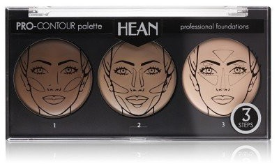 HEAN Paletka do konturu twarzy 3 kolory - Pro-Countour Palette Paletka do konturu twarzy 3 kolory - Pro-Countour Palette